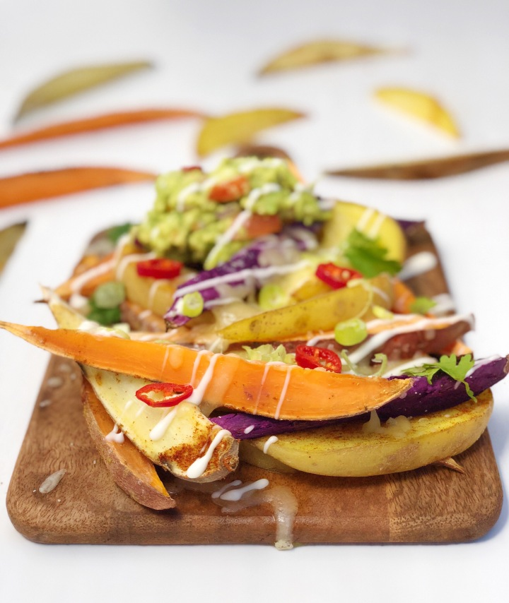 Vegan Loaded Potato Wedges Recipe